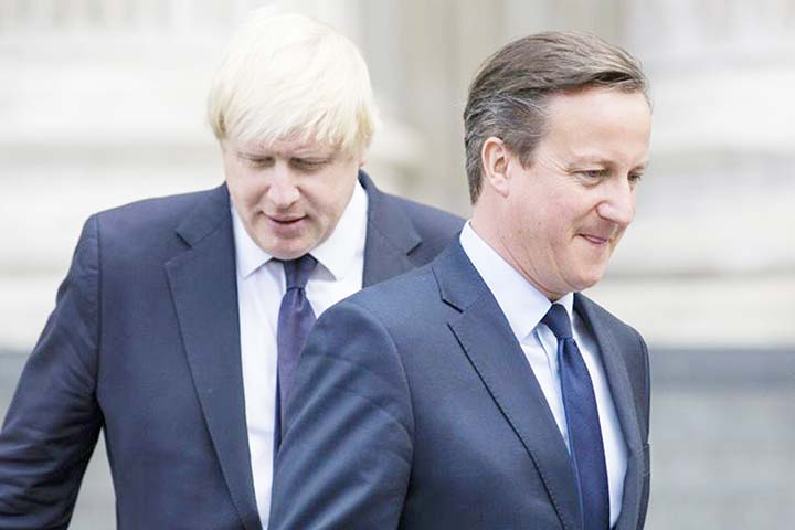Former British PM Cameron slams Boris Johnson over Brexit