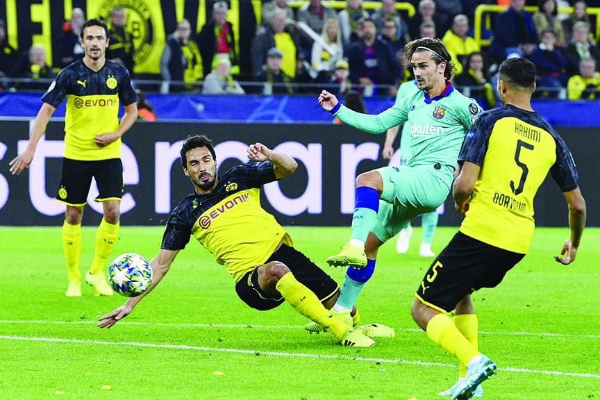 Ter Stegen the hero as Dortmund rue missed chances against Barcelona
