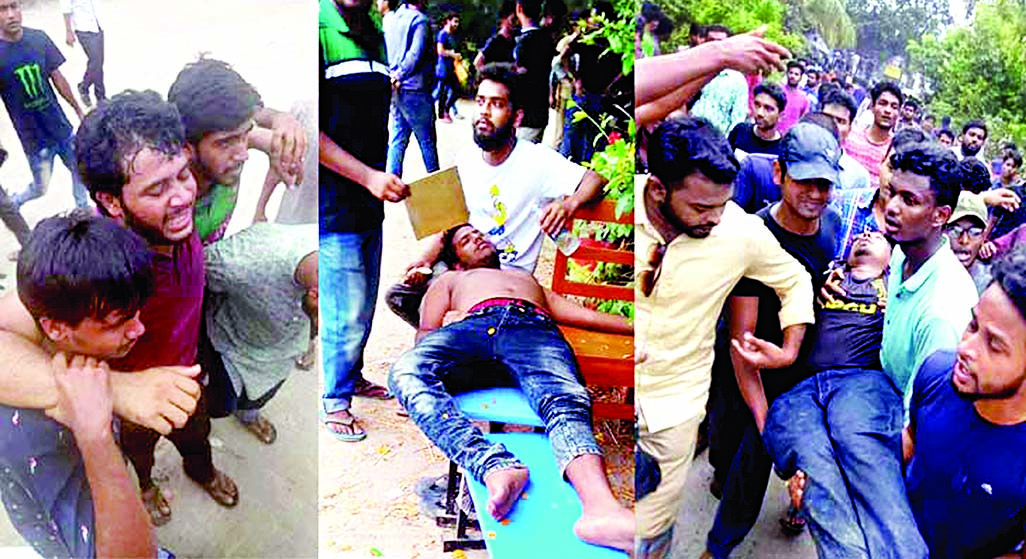 50 injured as outsiders swoop on students: They defy order to vacate halls: Assistant Proctor resigns on protest