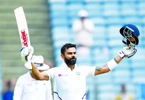 King Kohli overhauls Bradman's Test runs tally with double ton