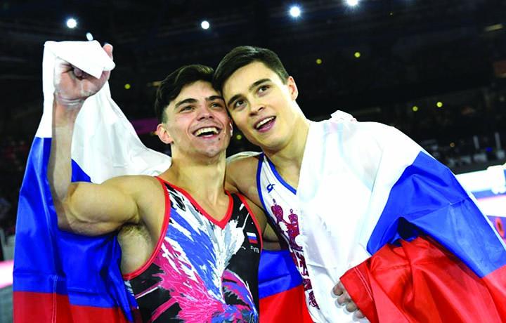 Nagornyy wins men's  all-around world title