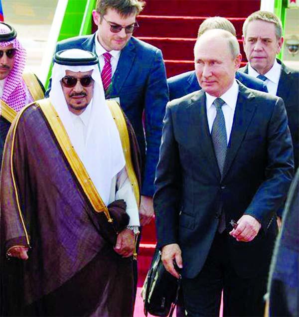 Russian President Vladimir Putin in Saudi Arabia