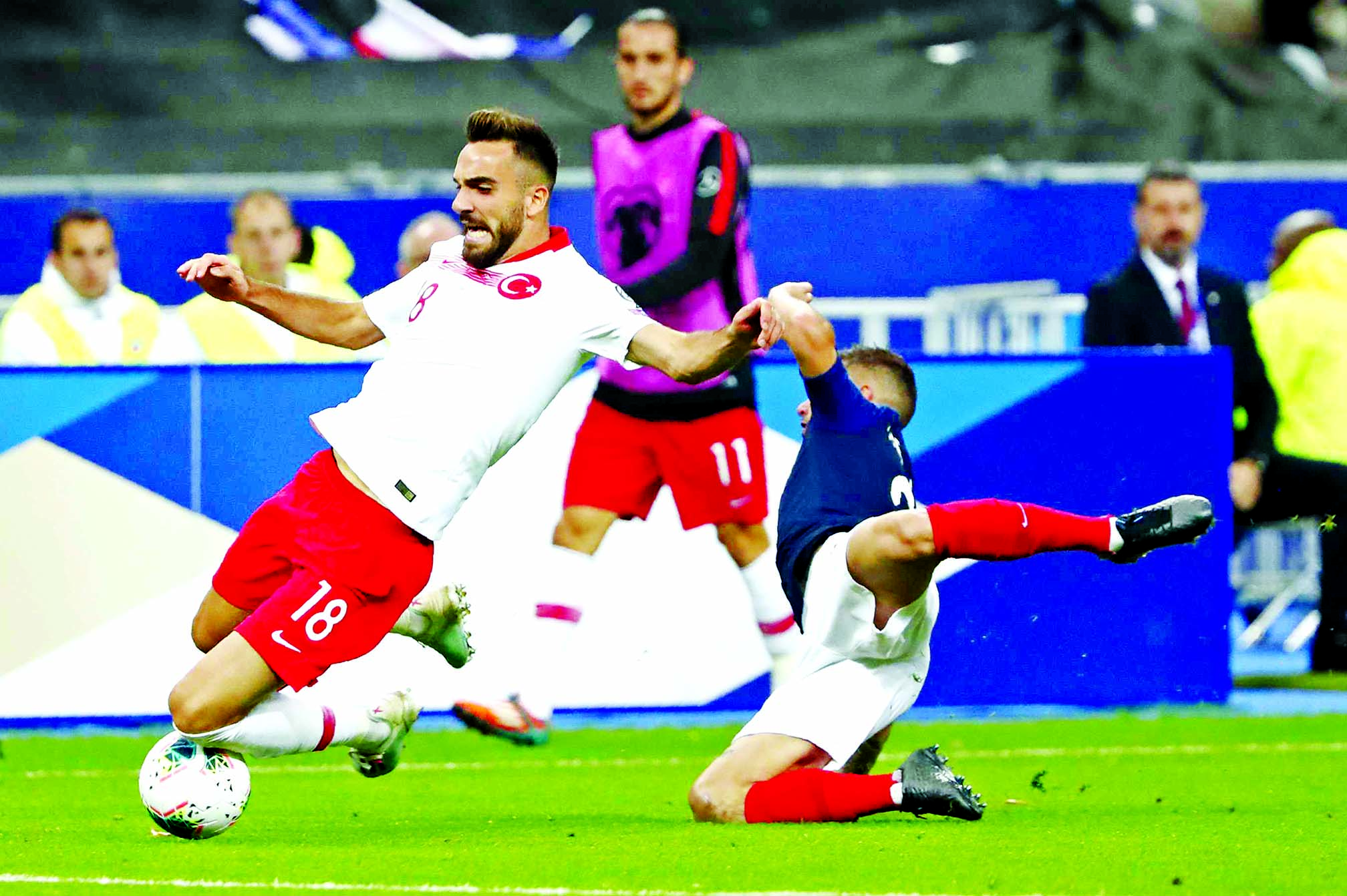 Ayhan equaliser forces France to wait for Euro 2020 spot