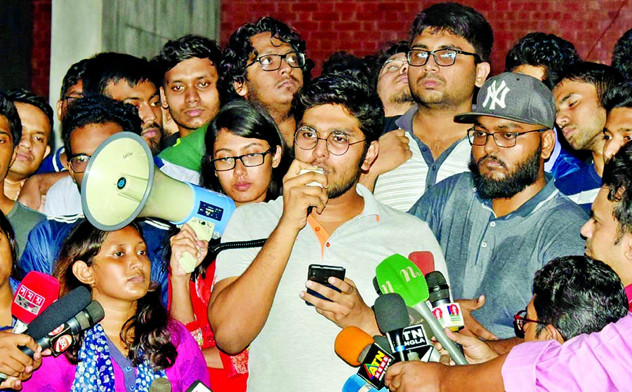 BUET students halt protests