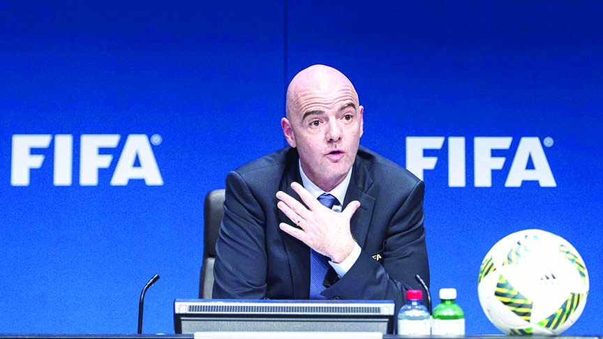 FIFA president 'disappointed' by empty stands at Koreas qualifier