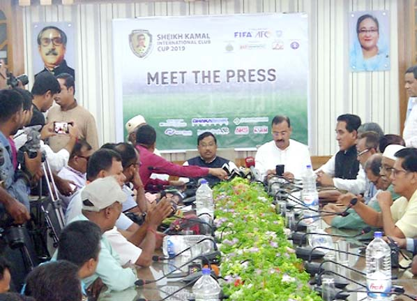Members of the organizing committee of the tournament, Whip  of Jatiya Sangsad Samsul Haque Chowdhury organised  a press conference   at the temporary office of the City Corporation at Tigerpass  on Wednesday.