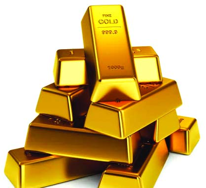 Gold futures rise on weaker greenback, safe haven buying