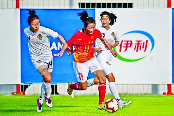 China beat S. Korea 3-0 in women's football opener at Military World Games