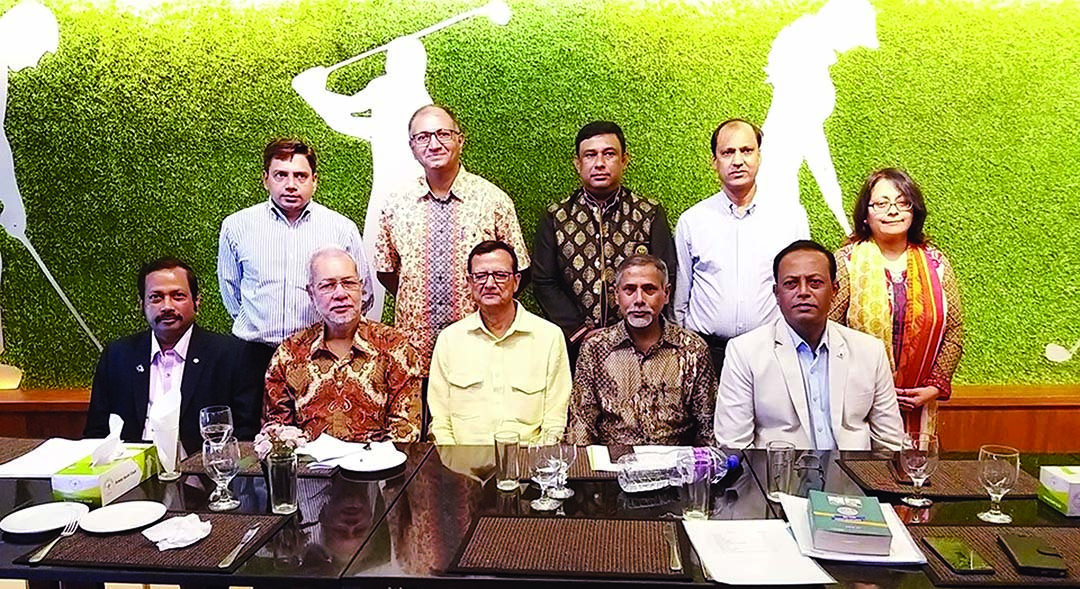 Former Governor of Rotary Magfur Uddin  Ahmed, among others, at a meeting organised recently by Rotary International Diabetes Awareness and Prevention Committee in the city.