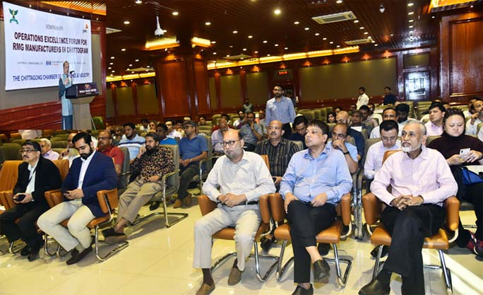 Mahbubul Alam, President Chattogram Chamber of Commerce and Industry  speaking at a  seminar on RMG Manufacturing  in   Chattogram was held  at the Port City recently.