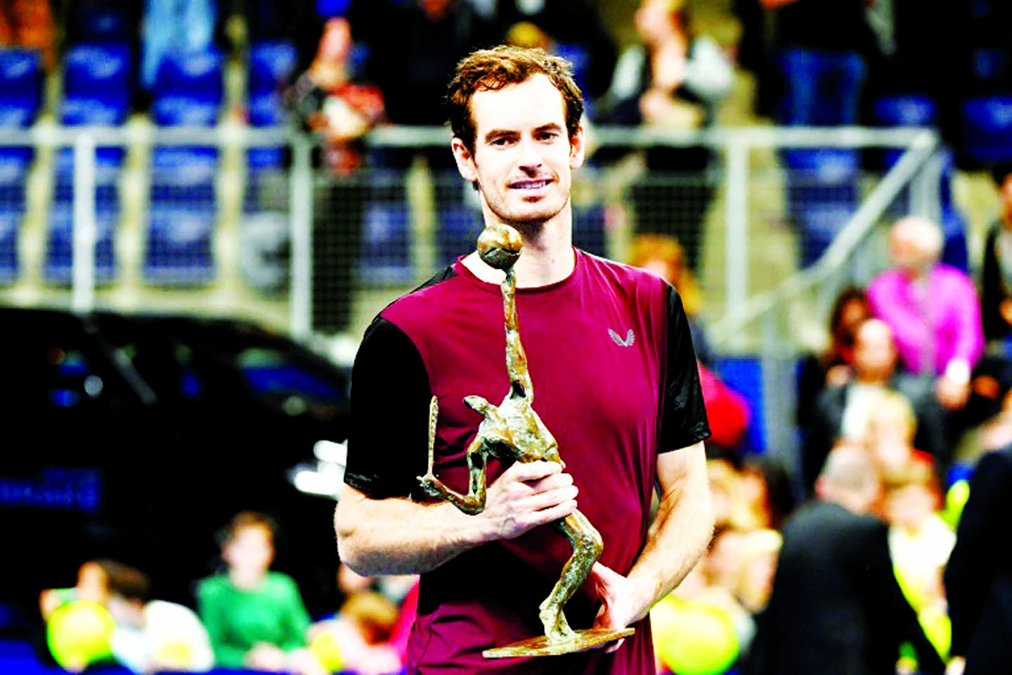 Andy Murray jokes 'I need to get back on the road' after European Open win