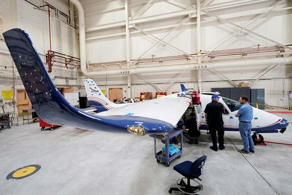 NASA unveils its first electric airplane - a work in progress