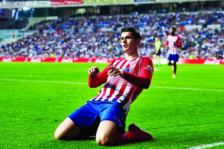 Morata makes it six in a row as Atletico move third