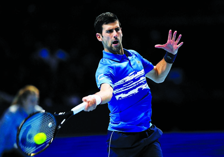 Djokovic eases past Berrettini in opening match at ATP Finals
