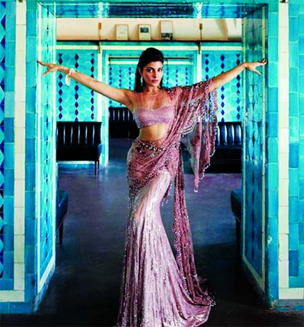Jacqueline Fernandez strikes a pose in a saree