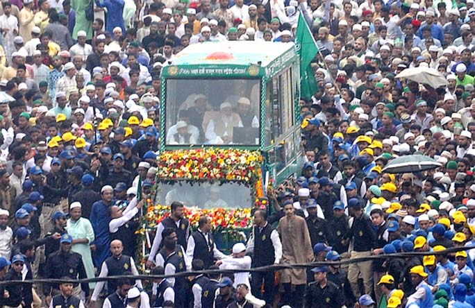 On the occasion of  Eid-e-Miladunnabi (SA), a procession (religious)  was brought out by  Anjuman-e-Rahmania Ahmadiyya Sunnia Trust led by Allama Syed Muhammad Taher Shah (MAJA)  on Sunday.