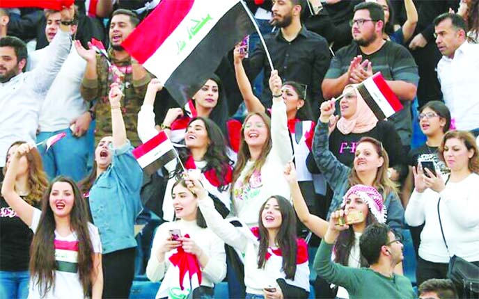 Iraqis celebrate football win against Iran as symbolic victory
