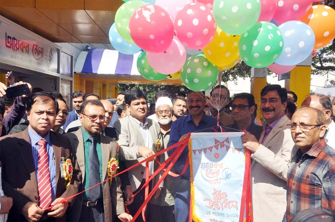 CCC Mayor A J M Nasir Uddin inaugurating the Tax Fair at the Port City yesterday.