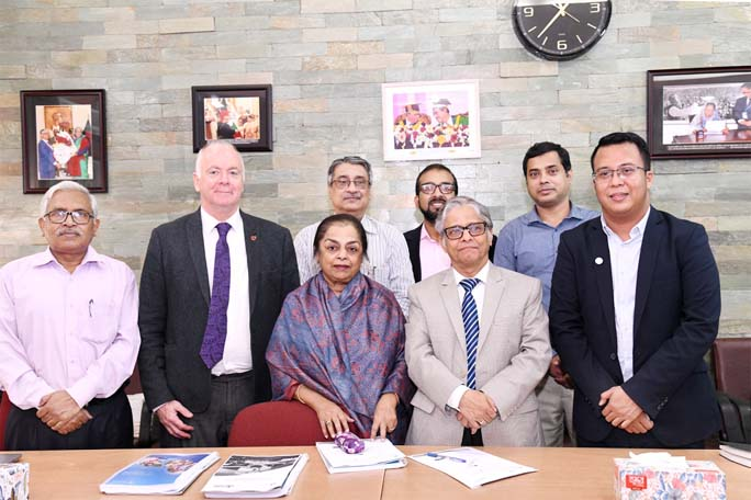 Aga Khan Academy team meets DU VC