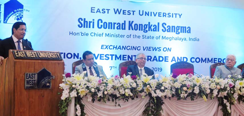Meghalaya Chief Minister speaks at education discussion of EWU