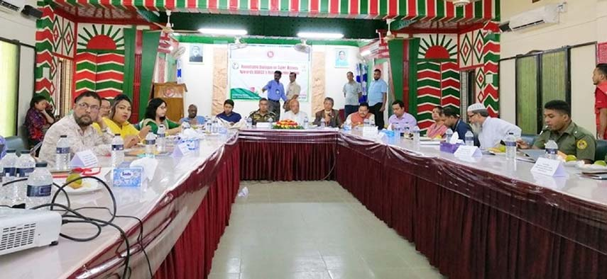 Bangladesh Red Crescent Society, Bandarban District Unit arranged round table conference on their activities  at Sadar Upazila Parishad Conference Room recently.