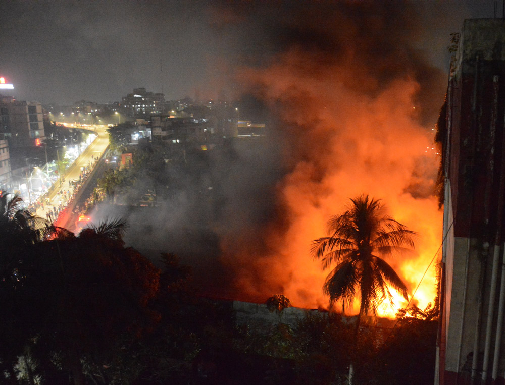 Massive fire engulfed in Rajdhani Super Market