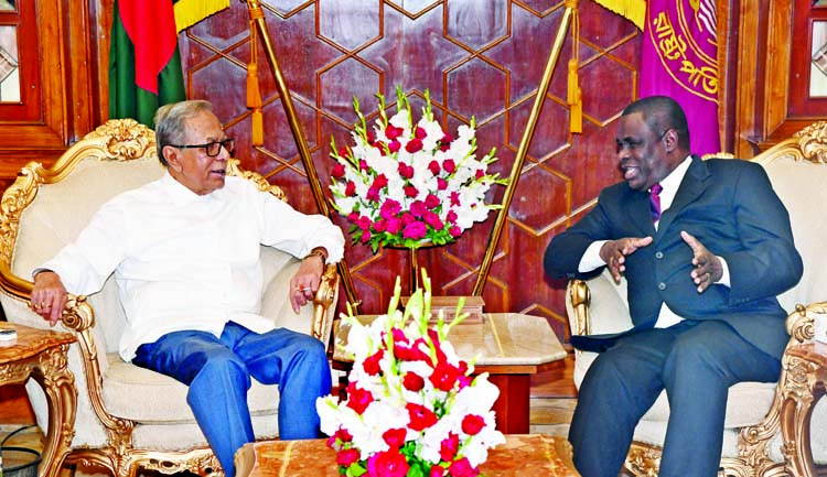 Envoy of Ivory Coast to Bangladesh Mr. Sainy Tiemele paid a farewell call on President Abdul Hamid at Bangabhaban on Wednesday.