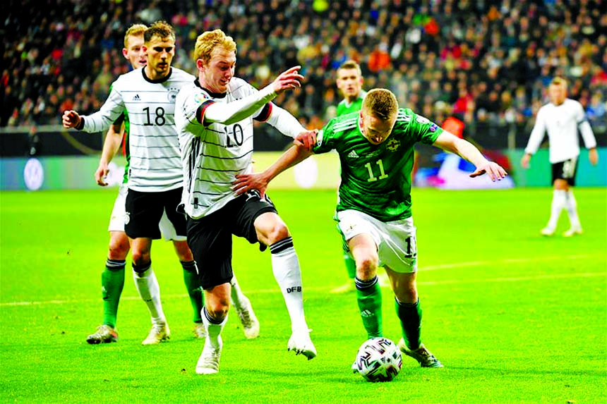 Serge Gnarby helps Germany crush Northern Ireland