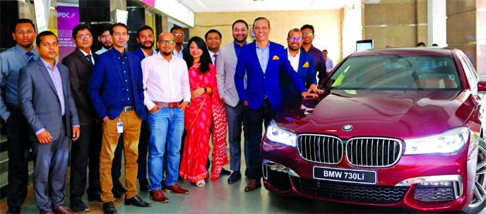 IPDC Finance Limited and world-renowned automobile company BMW, a German automobile, motorcycle and engine manufacturing company have jointly brought an attractive auto loan offer through Executive Motors Limited. Mominul Islam, CEO of IPDC Finance Limited and Dewan Muhammad Sajid Afzal, Director of Executive Motors Limited were also present. Through this offer BMW's premium customers can enjoy driving a BMW with ZERO Down-Payment on availing auto motive loan from IPDC. Top executives from both sides were also presnt.
