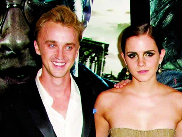 Rupert Grint recollects 'sparks flying' between Emma and Tom Felton