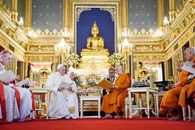 Pope in Thailand calls for action to protect women, children