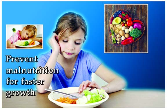 Prevent malnutrition for faster growth