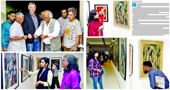 Tajul Islam's solo tapestry, painting exhibition at AFD