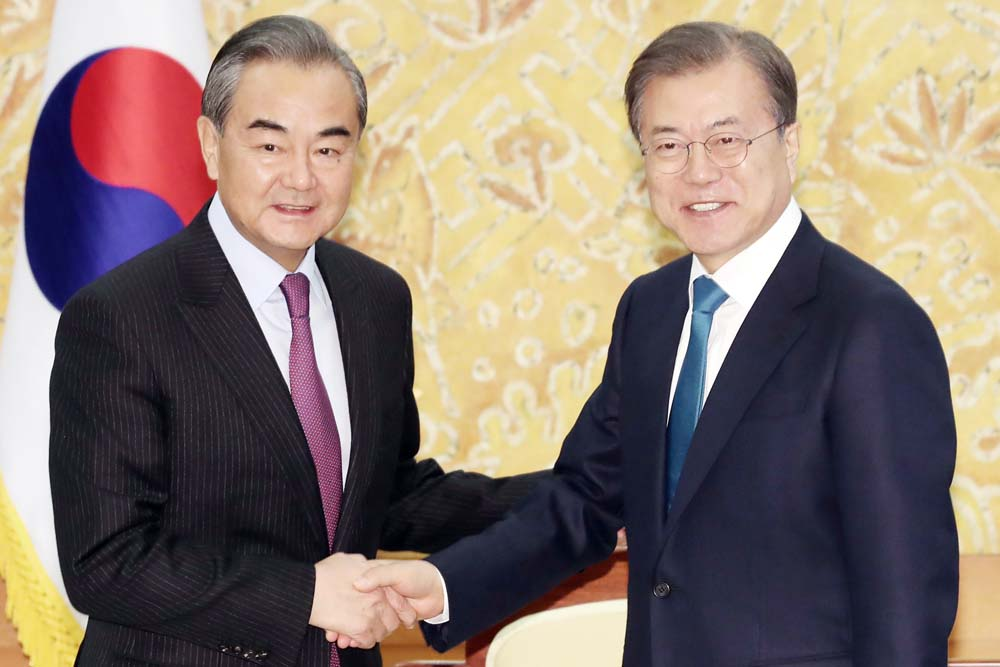 Moon calls for Chinese role in denuclearizing North Korea