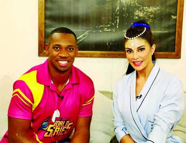 Jacqueline hangs out with Yohan Blake