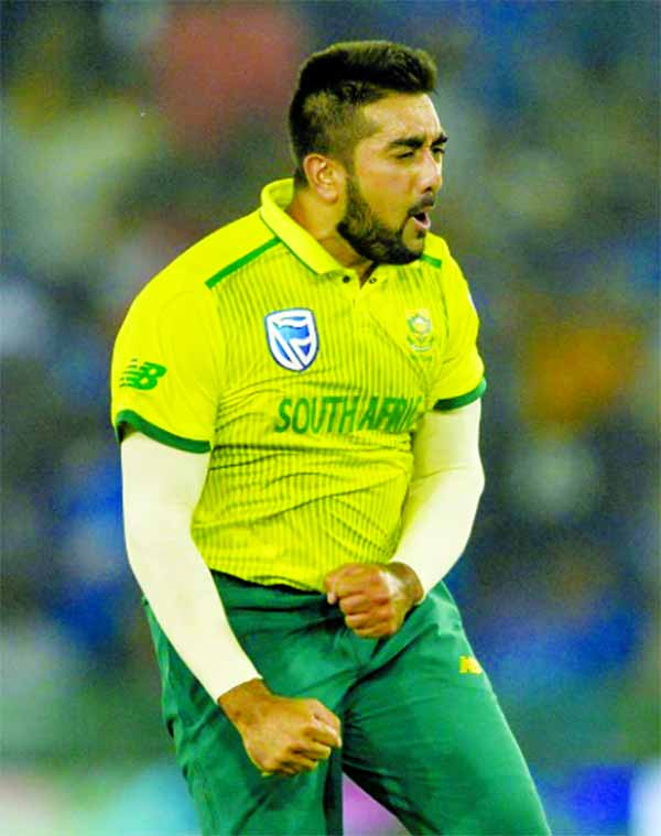 South Africa's Shamsi brings magic to cricket celebrations