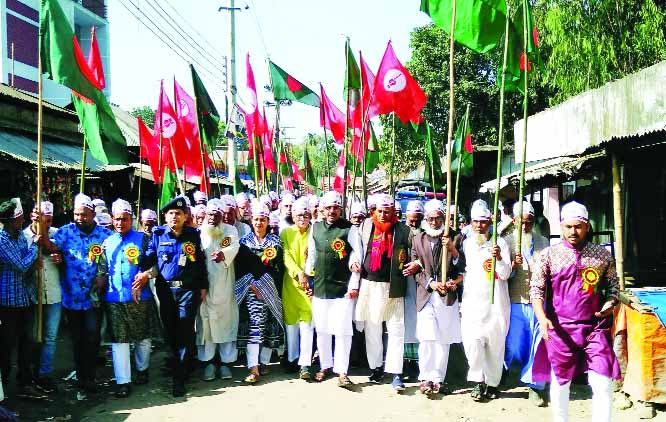 SRIBARDI (Sherpue):  Freedom Fighters brought out a rally marking the Sribardi Freedom Day on Friday.