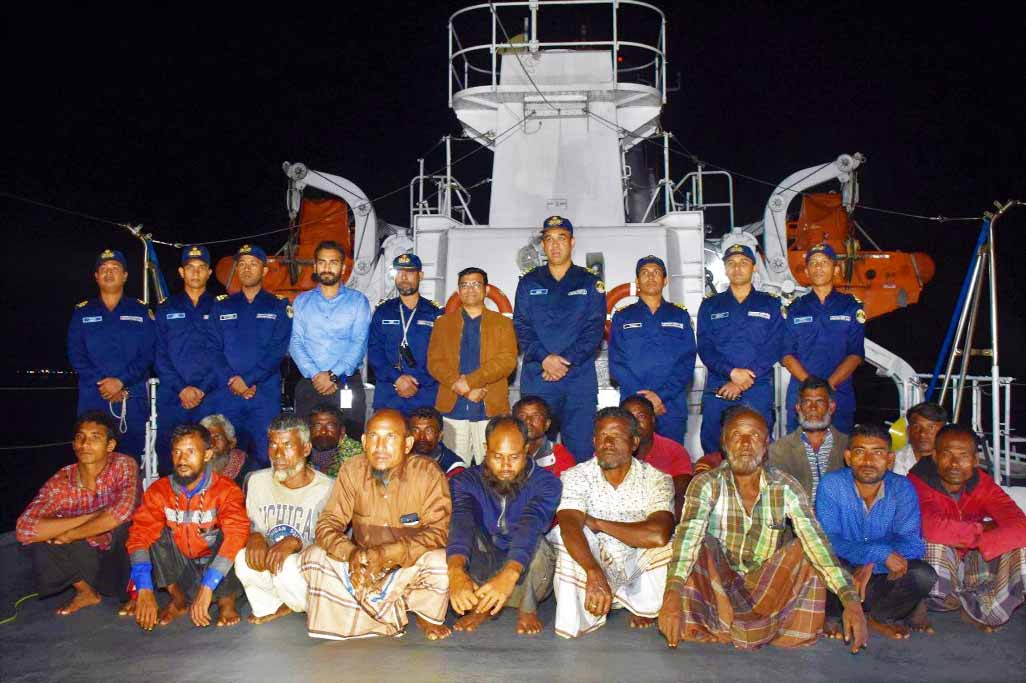 Members of Coast Guard recovered missing  17 Bangladeshi  from Chaktai Area   recently.