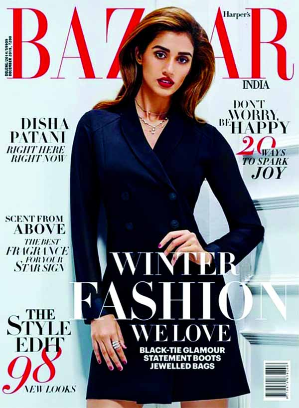 Disha Patani's monochrome looks of her latest magazine shoot