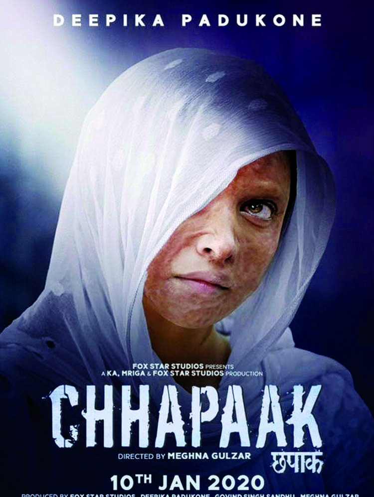 Deepika looks vulnerable and powerful in the latest posters of 'Chhapaak'