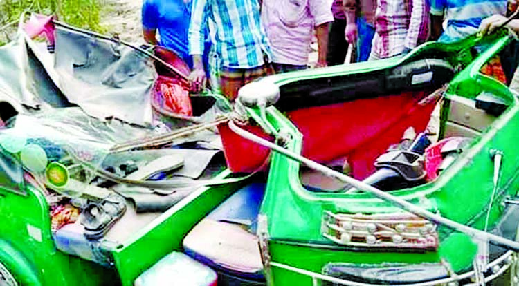 At least three people were killed and five others injured in a road accident in Subarnachar of Noakhali on Tuesday.