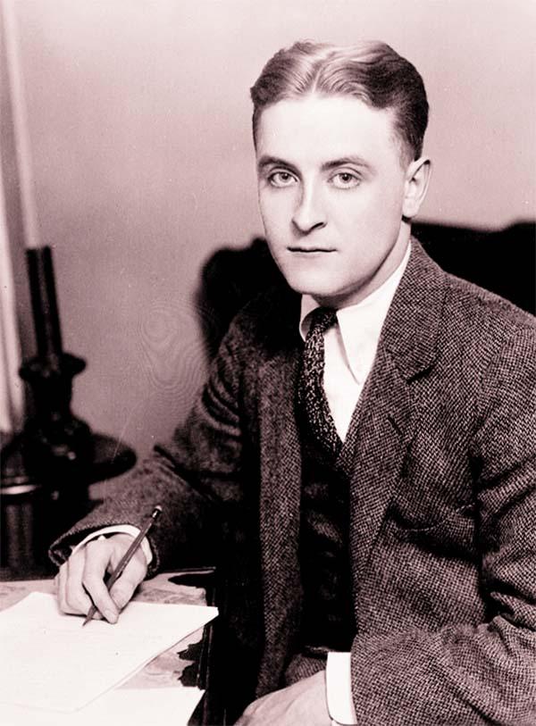 Novelist F Scott Fitzgerald