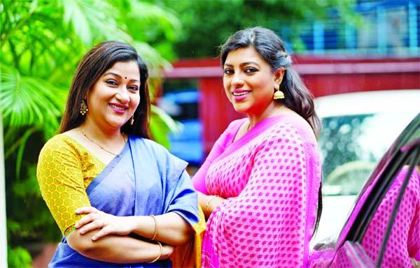 Deepa, Mou in serial Sutoi Bandha Sukher Paira
