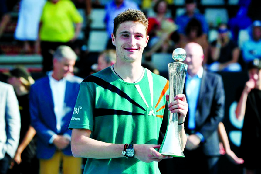 Humbert wins first ATP title in French showdown at Auckland