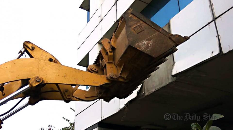 Demolition of BGMEA building starts