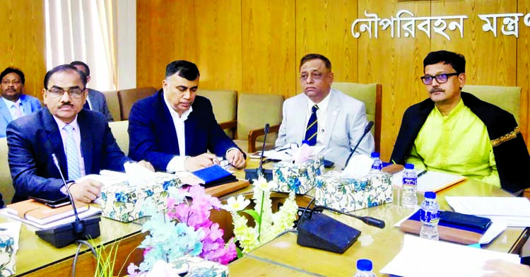 State Minister for Shipping Khalid Mahmud Chowdhury speaking at a planning workshop on 'Easing Export and Import Activities of Chattogram Port and Bangladesh Landport Authority' at the ministry on Wednesday.