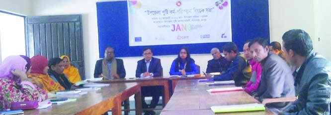 GANGACHARA (Rangpur) : UNO Taslima speaking at a meeting on nutrition planning at Gangachara  recently.