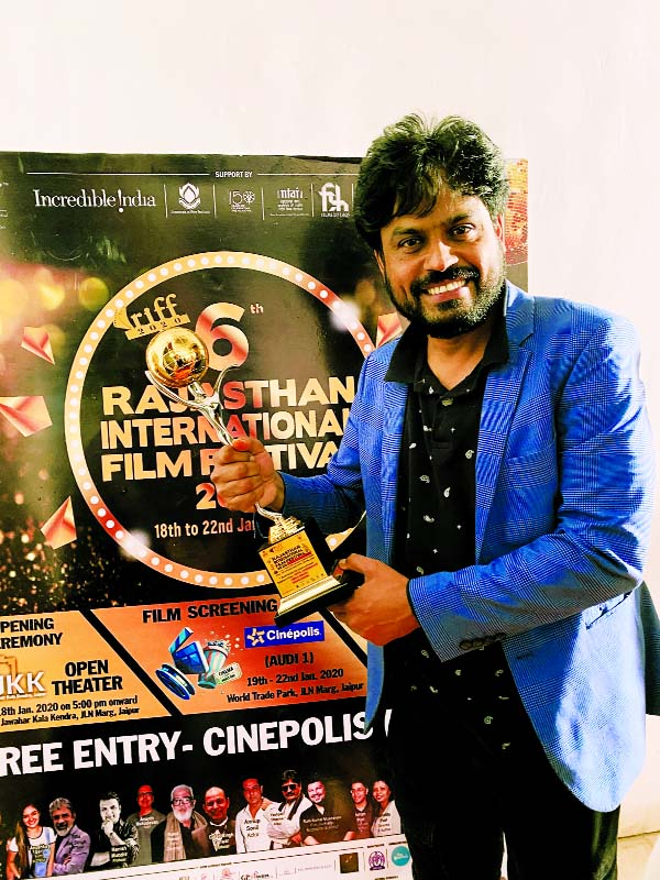 Tutul Chy receives Best Actor award in Rajasthan Film Fest