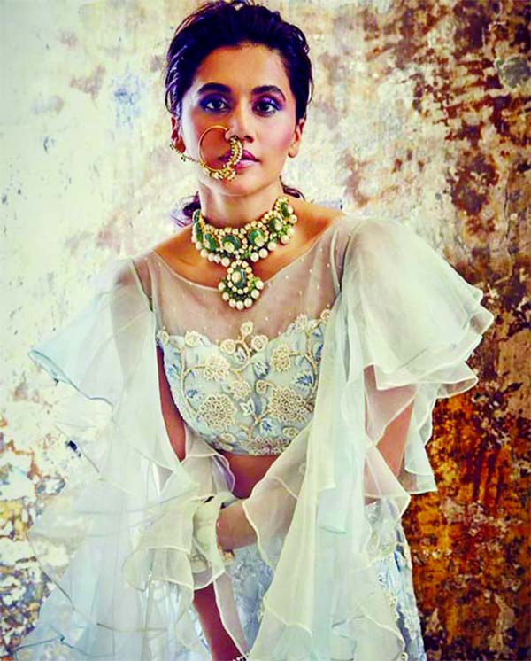Taapsee Pannu looks traditionally eloquent for a wedding shoot