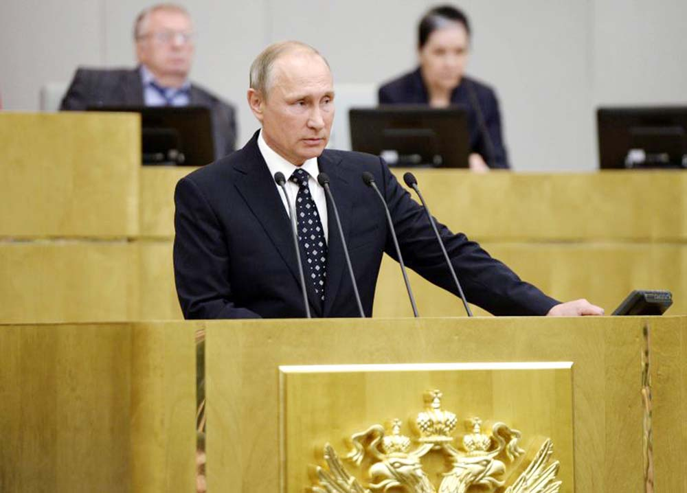 Russian MPS give quick first approval to Putin reforms